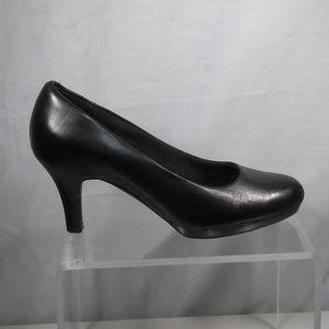 Clarks Artisan  leather heels pumps patform